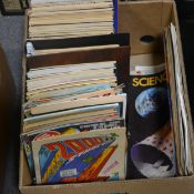 Science-fiction and comic book magazines (one box)