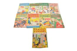 Famous Funnies comics including no.172 to 186