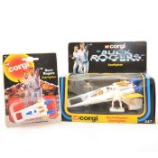 Corgi Toys, no.647 Buck Rogers Starfighter and a Juniors Starfighter, both cased.