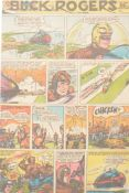 Eight folders of Buck Rogers newspaper comic pages by Rick Yager