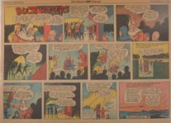Three folders of Buck Rogers newspaper comic pages, The Sunday Sun Baltimore/Los Angeles Times 1942-