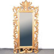 Large gilt frame wall mirror,