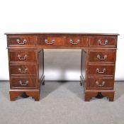 Reproduction mahogany finish desk and sideboard