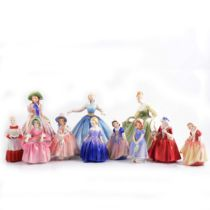 Small collection of eleven Royal Doulton figures