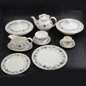 Royal Doulton 'Burgundy' pattern part dinner and tea service.