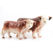 Two Hereford china bulls.