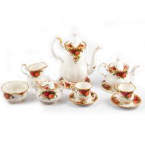 Royal Albert 'Old Country Roses' part tea and coffee set.