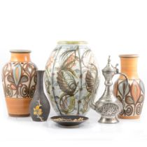 Denby and Langley Glyn Colledge vases, plus other ceramics.