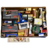 One box full of modern die-cast vans and vehicles