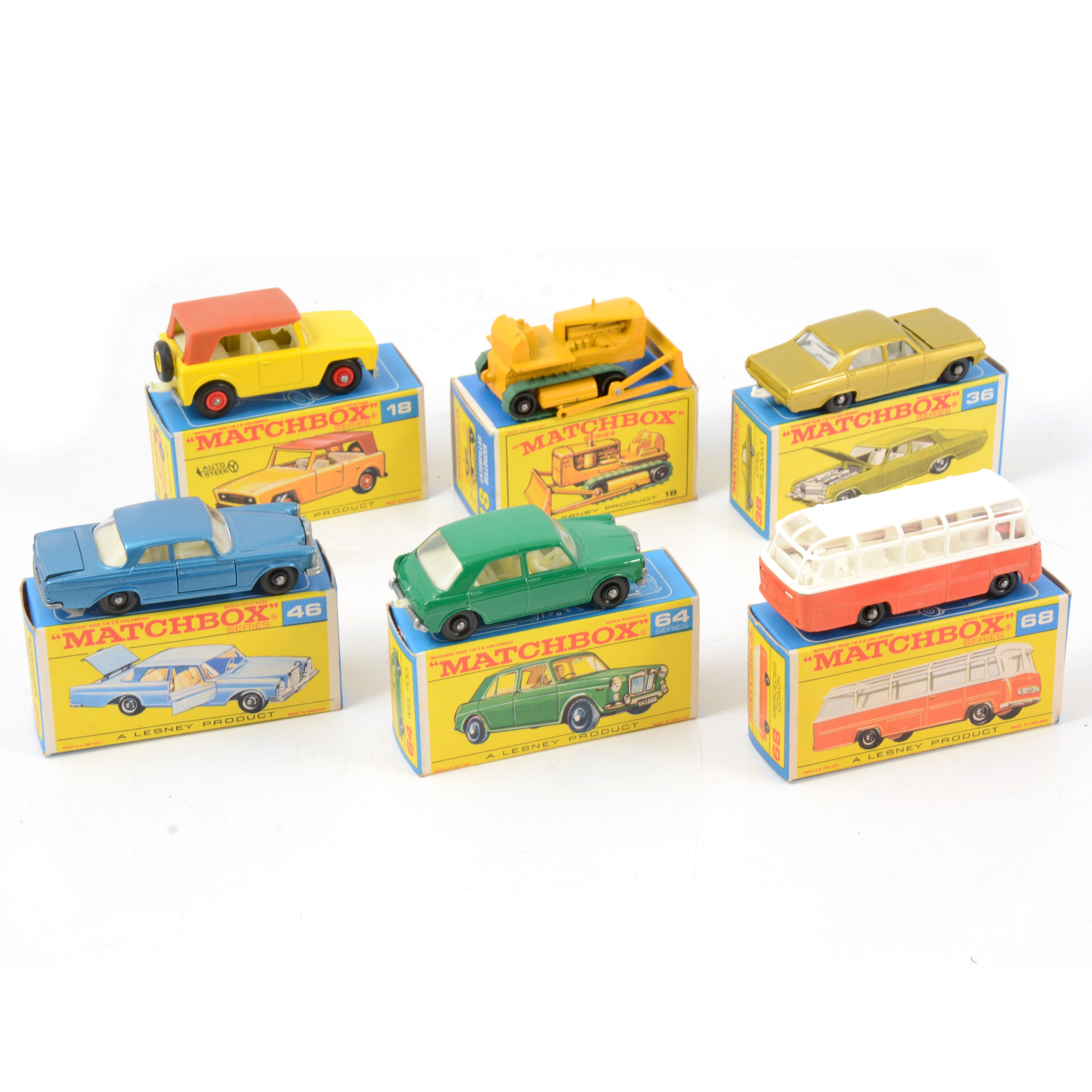 Matchbox Lesney die-cast models; six including 18 field car. - Image 2 of 2
