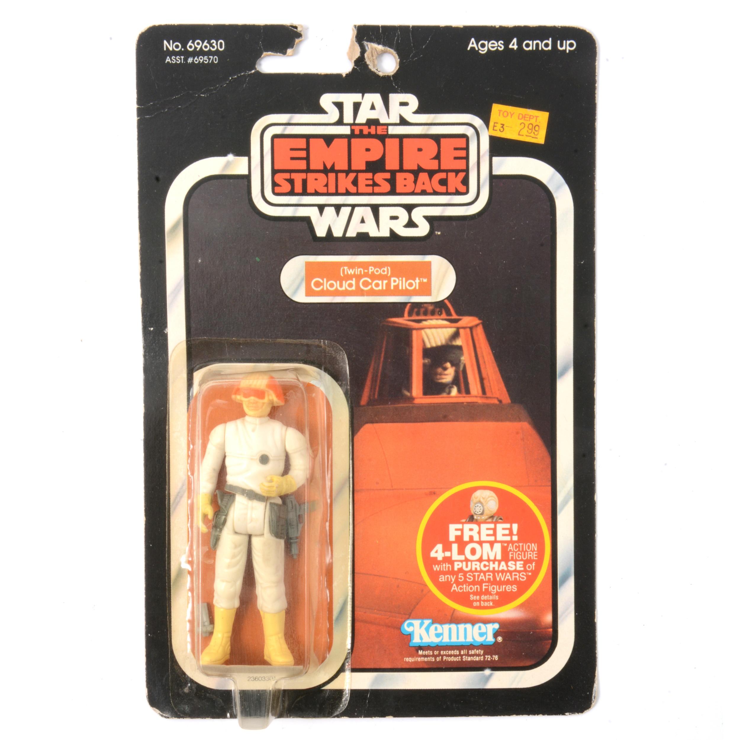 Star Wars Kenner Twin Pod Cloud Car Pilot figure