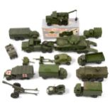 Dinky and other die-cast military models, including Dinky no.661 Recovery Tractor, boxed