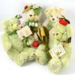 Hermann-Spielwaren Flower series mohair teddy bears, fifteen.