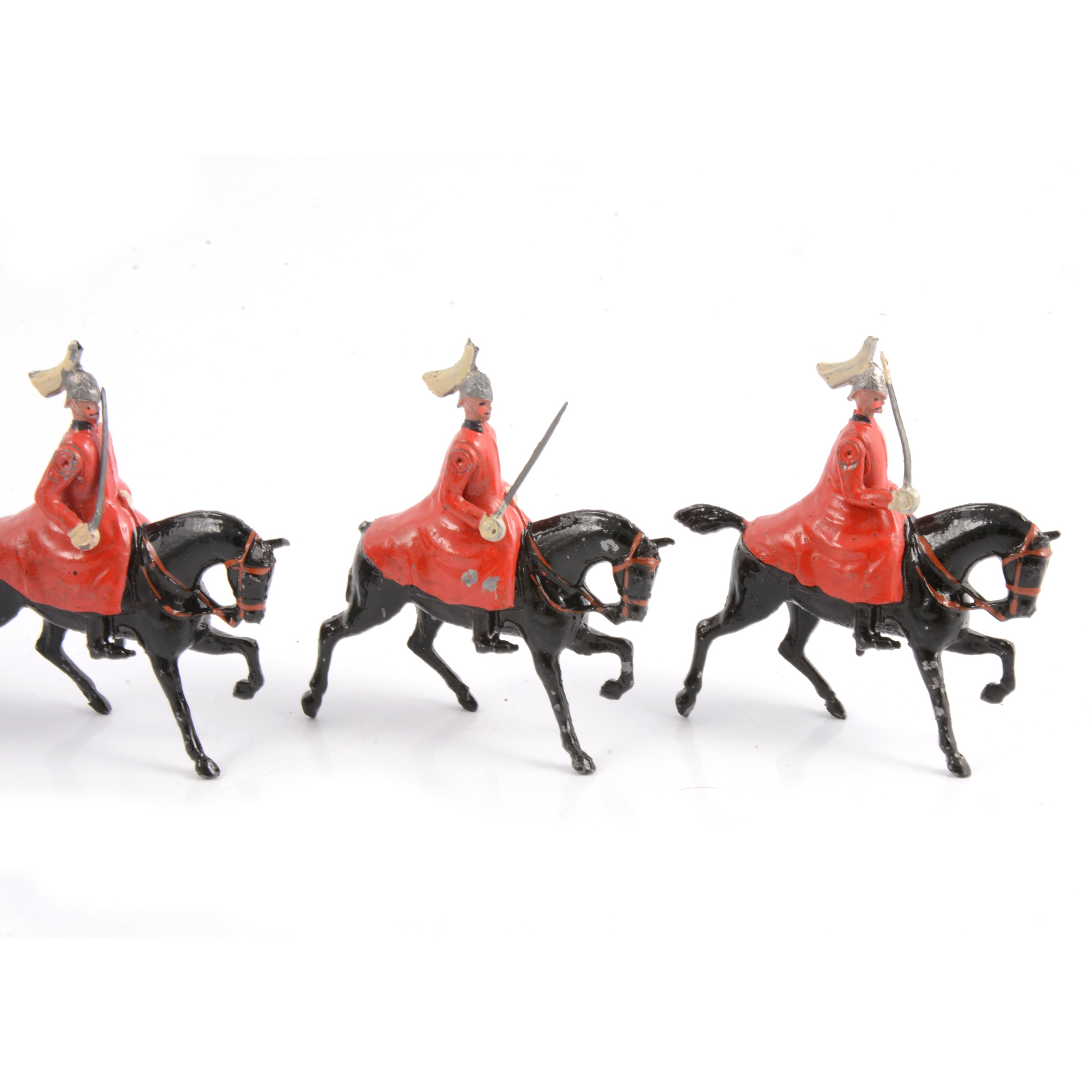 Britains lead-painted figures, Life Guards in winter coats set no.400 - Image 3 of 3