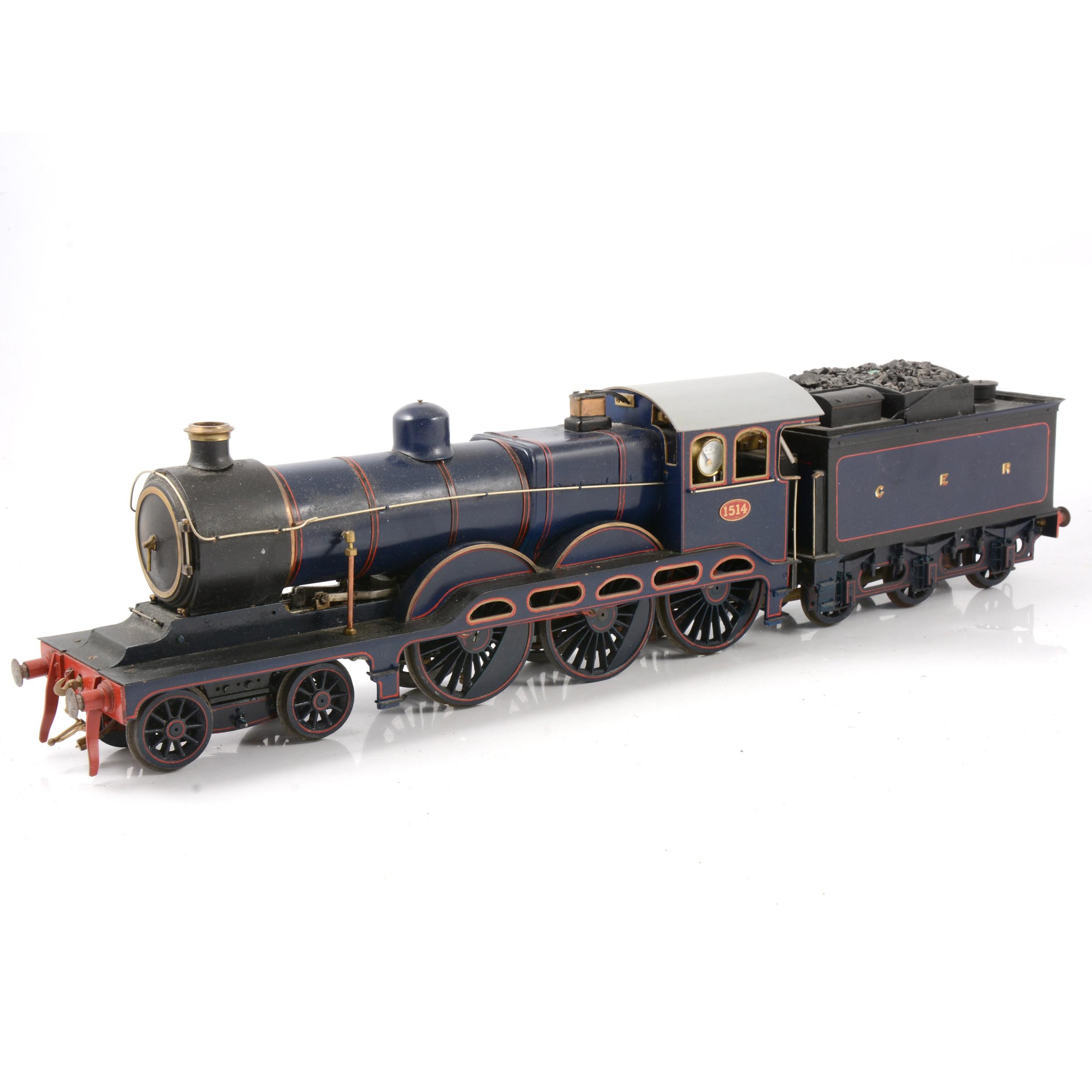 A well-built live steam gauge 1 / G scale, 45mm locomotive, GER, 4-6-0 no.1514 'Royal Train'