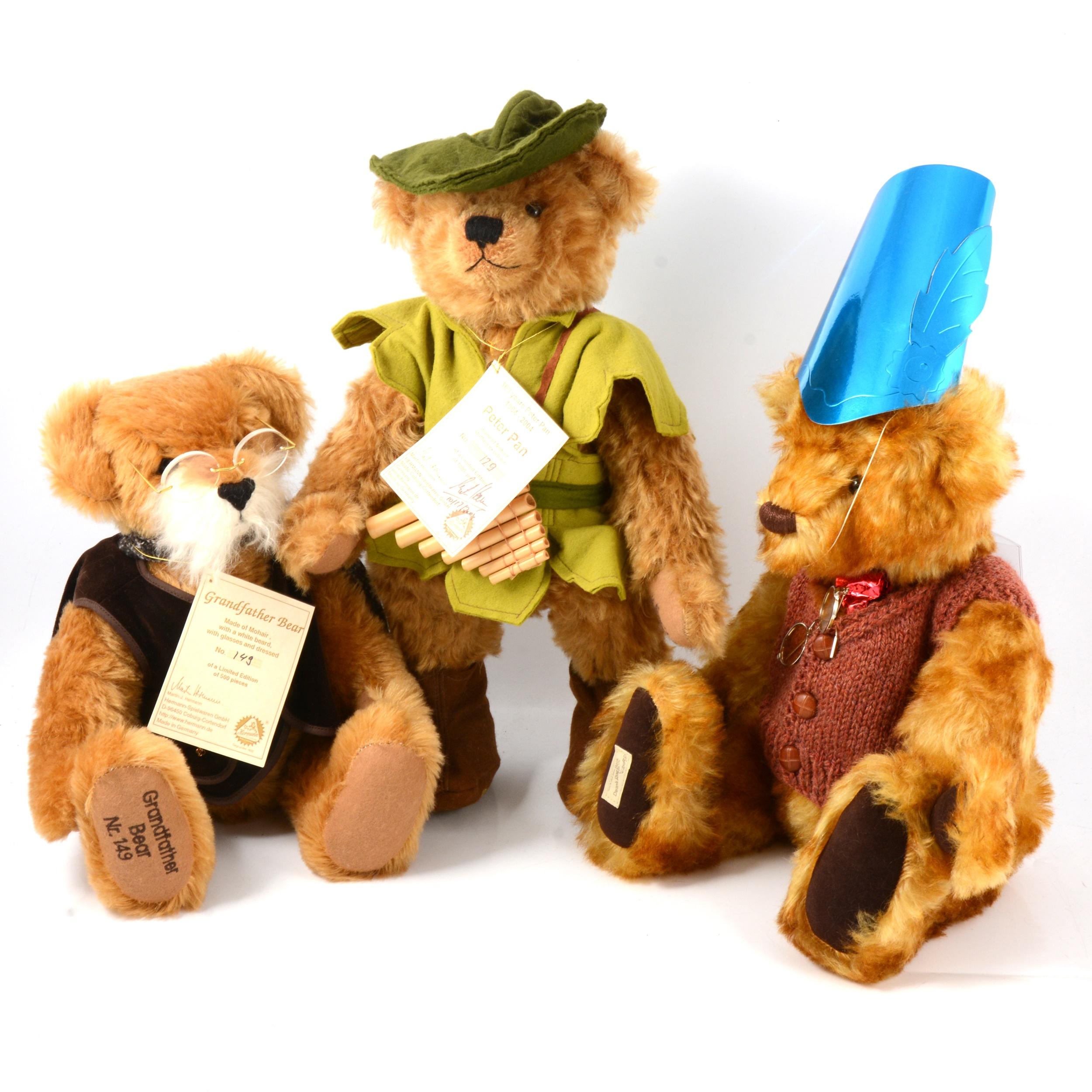 Hermann-Spielwaren mohair teddy bears and a Dean's Rag Book bear.