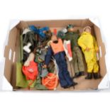 Action Man by Palitoy, a quantity to include three early action figures