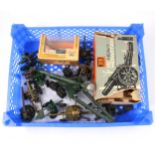 """Britains military die-cast field guns; including 9740 18"""" Howitzer, boxed"""