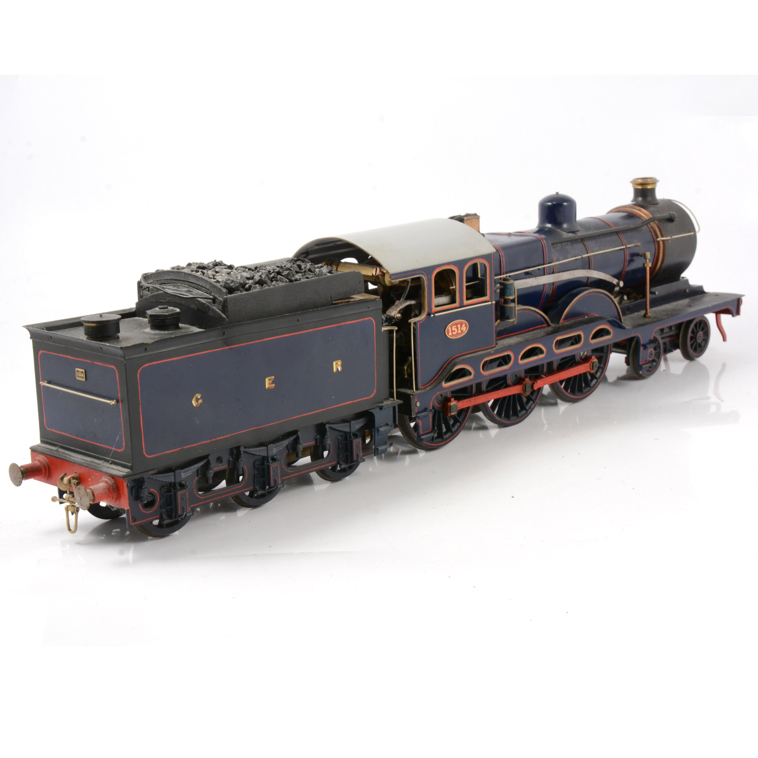 A well-built live steam gauge 1 / G scale, 45mm locomotive, GER, 4-6-0 no.1514 'Royal Train' - Image 3 of 4