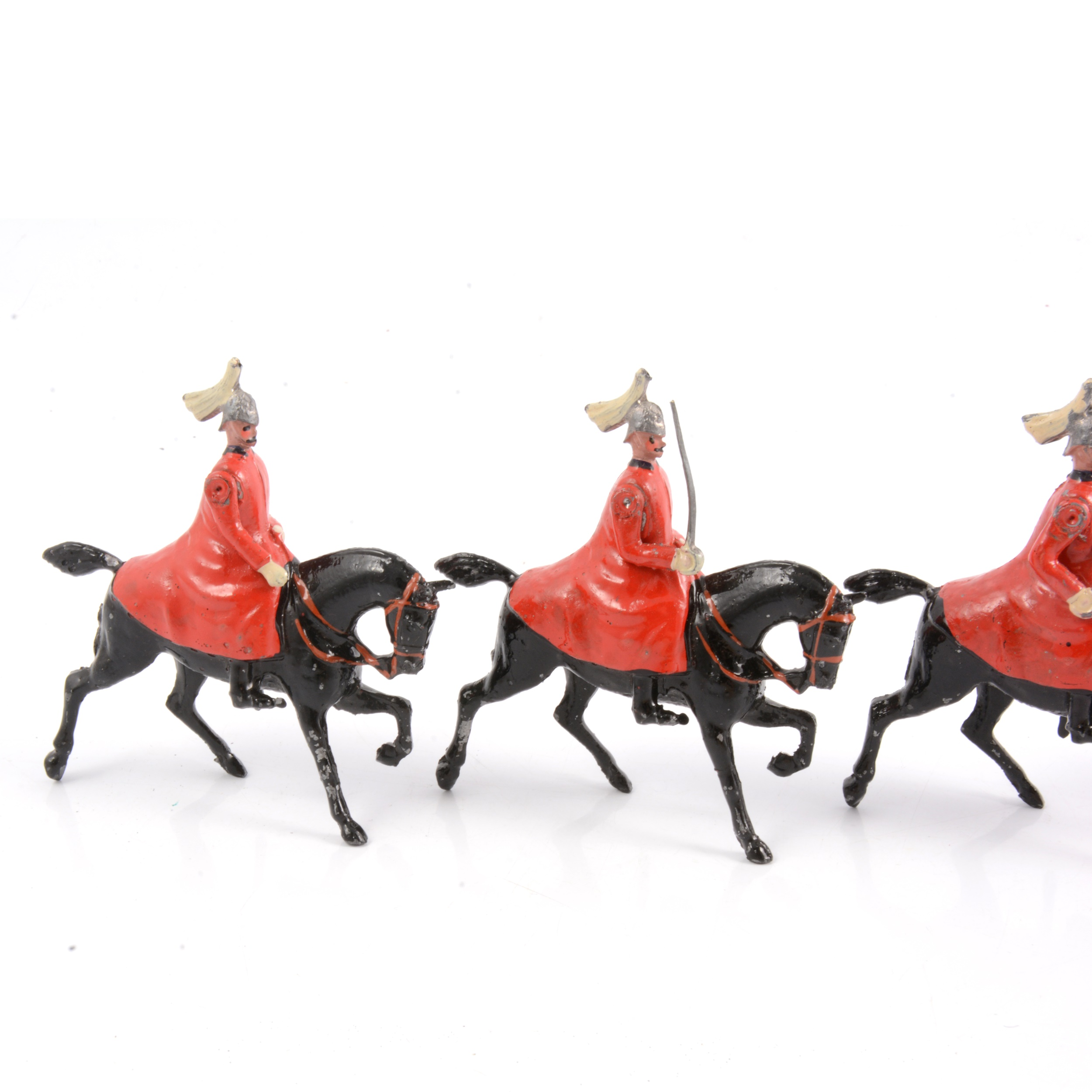Britains lead-painted figures, Life Guards in winter coats set no.400 - Image 2 of 3