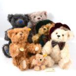 Steiff teddy bears, six including British Collector's 1999