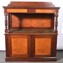 Victorian mahogany and maple wood buffet,