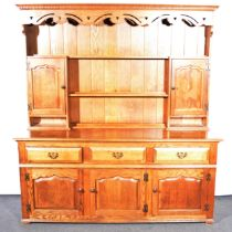 Modern oak Welsh dresser