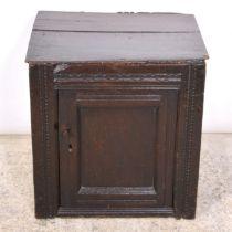 Joined oak cupboard, late 17th Century,