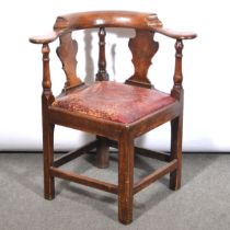 Georgian oak corner chair