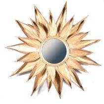 Contemporary wall mirror, sunflower design