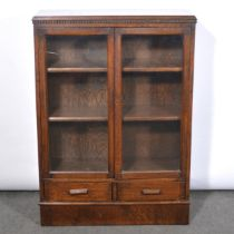 Stained oak bookcase