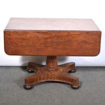 Victorian mahogany pedestal Pembroke table