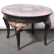 Chinese lacquered coffee table,