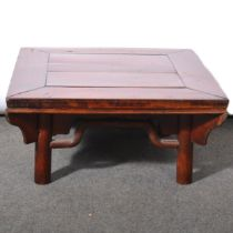 Chinese hardwood low table,