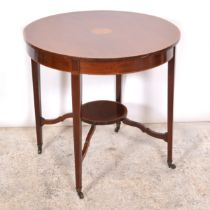 Late Victorian mahogany occasional table,