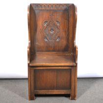 Oak hall seat