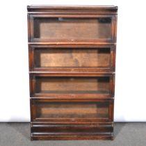 Globe-Wernicke style oak sectional bookcase