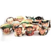 Twelve Royal Doulton character jugs,