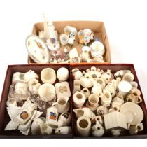 Carlton china crested model of an aeroplane, other crested china and other ornaments,