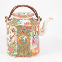 Chinese famille rose tea kettle,