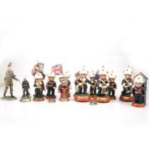 A collection of Hamilton and other Royal Marine figurines.