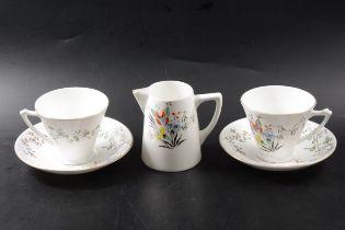 Two bone china tea sets, Wedgwood and Heathcote China