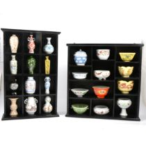 Heritage Collection set of miniature Chinese cermics,