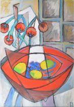 Philip Vencken - Still Life, tomatoes and lemons