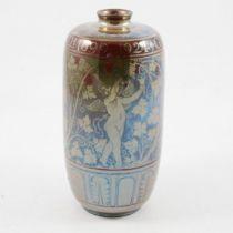 Richard Joyce for Pilkington's Royal Lancastrian, a lustre vase for a silver wedding, 1924