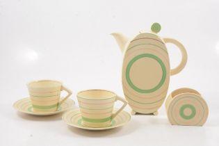 Clarice Cliff, an Art Deco Bonjour part coffee set