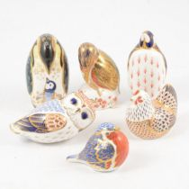 Six Royal Crown Derby paperweights