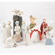 Small collection of Lladro and other Spanish figures,