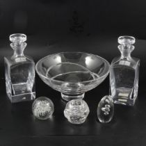 Pair of Jasper Conran crystal decanters and other crystal,