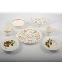 "A Paragon ""Belinda"" tea service and Mintons ""Haddon Hall"" teaware."